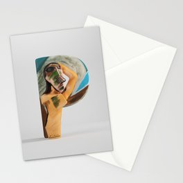"Picasso ""Q"" letter Stationery Cards"