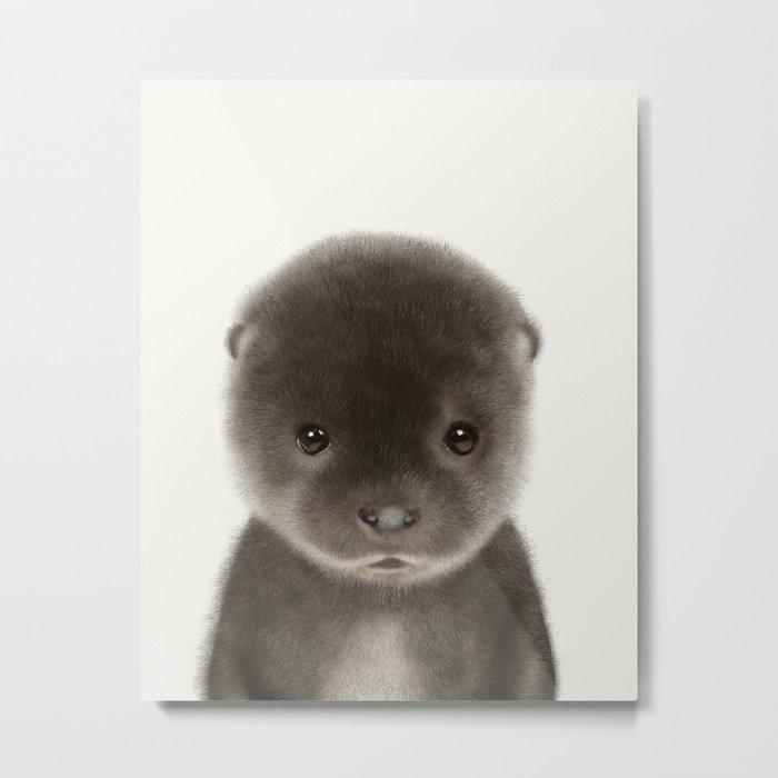 Baby Otter Metal Print