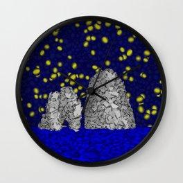 Starry Capri Wall Clock