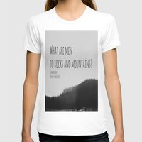 jane austen T-shirts featuring Mountains Jane Austen by KimberosePhotography