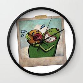 Baby Avocado Wall Clock