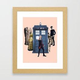 Doctor Who & Enemies Framed Art Print