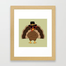 Cool Turkey with sunglasses Happy Thanksgiving Framed Art Print