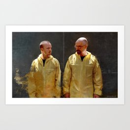 Walter White And Jesse Pinkman - Time To Cook Art Print
