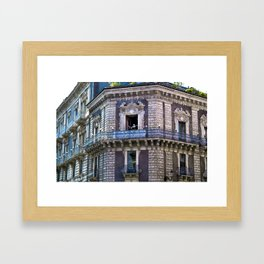 Sicilian facade of Baroque in Catania  Framed Art Print