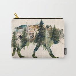 Wolf is the Pride of Nature Carry-All Pouch