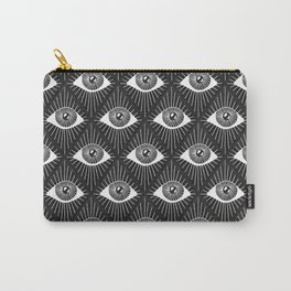 All Eyes - Black & White Carry-All Pouch
