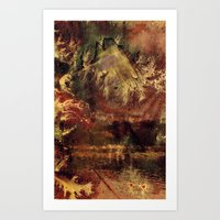 There is a Mountain Art Print