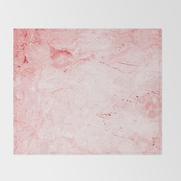 Red Marble Throw Blanket