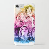 river song iPhone & iPod Cases featuring River Song Watercolor Mixed Media Digital Painting by Purshue
