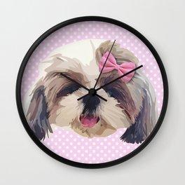Cute Shitzu Dog Wall Clock