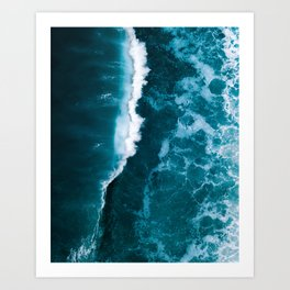 Wild Blue Ocean Wave – Oceanscape Photography Art Print