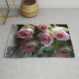 Roses From Paris Rug