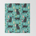 Black cat wine champagne cocktails cat breeds cat lover pattern art print by petfriendly