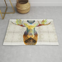 Mystic Moose Art by Sharon Cummings Rug