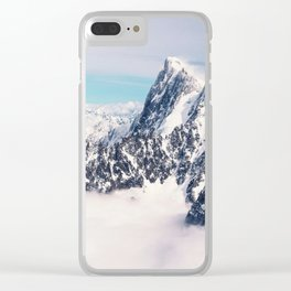 Atop the Auguille Du Midi Clear iPhone Case