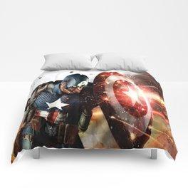 Man Of Captain In America Comforters