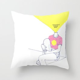 Missing Parts Throw Pillow