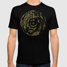 Gold Disc MEDIUM Black Mens Fitted Tee