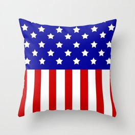 Patriotic stars and stripes Throw Pillow