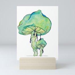 Trippy Drippy Mushrooms Mini Art Print