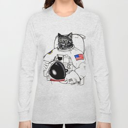 Astronomically Curious Cat Long Sleeve T-shirt
