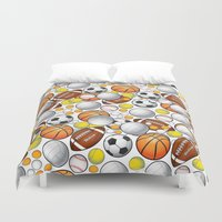 sport Duvet Covers featuring Sport Balls by Martina Marzullo Art