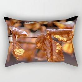 Golden February Rectangular Pillow