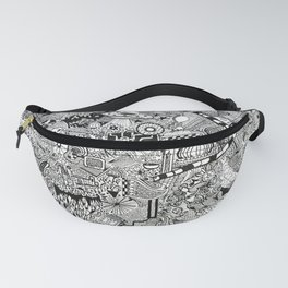 sea to space zentangle Fanny Pack