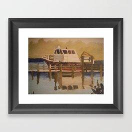 Park boat. Framed Art Print