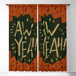 Aw Yeah! // Red and Black Blackout Curtain