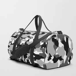 black and white Background Pattern Camo Duffle Bag