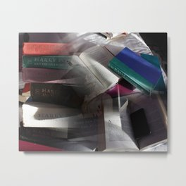 Book collage Metal Print