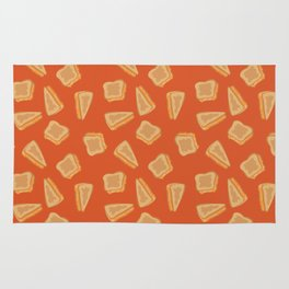 Grilled Cheese Print Rug