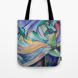 Middle Eastern Belly Dance With Pastel Veils Tote Bag