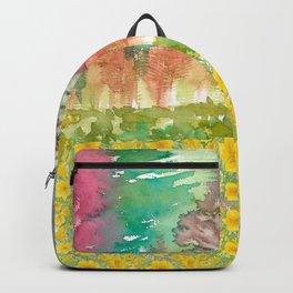 Autumn Sunny Landscape Backpack