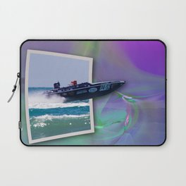 Offshore Addiction Speeds Out Of Frame Laptop Sleeve