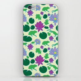 Jumping Frogs of Lily Pad Valley iPhone Skin
