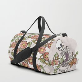 Skeleton and Kitty Friends Duffle Bag