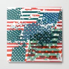 Like an American. USA grunge flag Metal Print