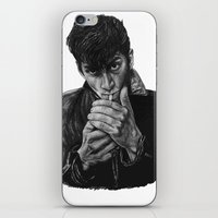 arctic monkeys iPhone & iPod Skins featuring ARCTIC ALEX by Aoife Rooney Art
