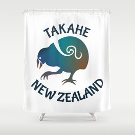 TAKAHE New Zealand Native bird Shower Curtain