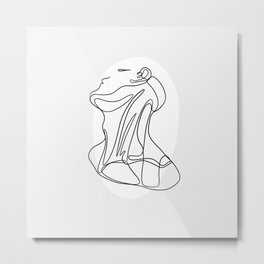 Head and Neck Metal Print