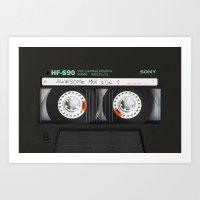 targaryen Art Prints featuring cassette classic mix by neutrone