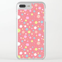Spring Floral Pink Clear iPhone Case