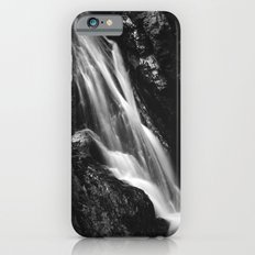 Black and white waterfall in Hell Gorge, Slovenia Slim Case iPhone 6s