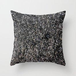 Sand at Cobblestone Beach Throw Pillow