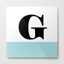 Monogram Letter G-Pantone-Limpet Shell Metal Print