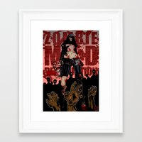 zombies Framed Art Prints featuring zombies! by drrd