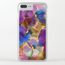 Floral abstract (74) Clear iPhone Case